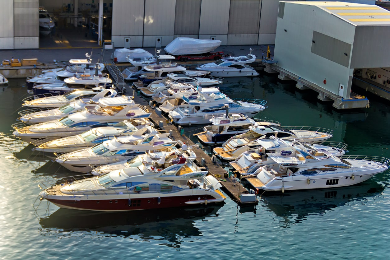Types of boat storage